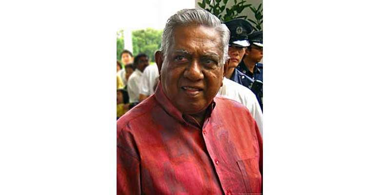 SR Nathan was of Indian origin, who rose to the highest office of the country.