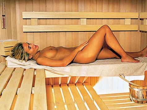 nude women in sauna