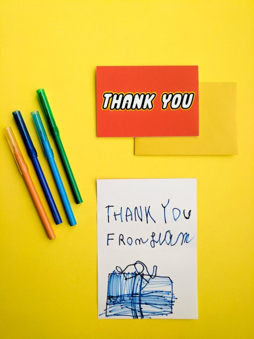 Medium Of Birthday Thank You Cards