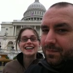 HA, and here I am photo bombing an otherwise nice photo of Pete at the Capitol.