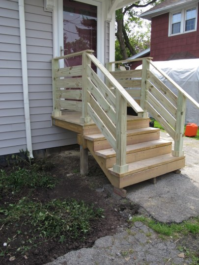 Updated front porch! Whoop.