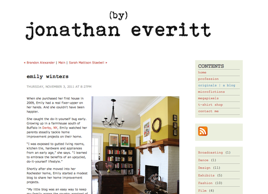 Jonathan Everitt, Originals