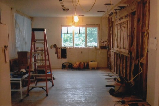 During: Kitchen, gutted and being redesigned.