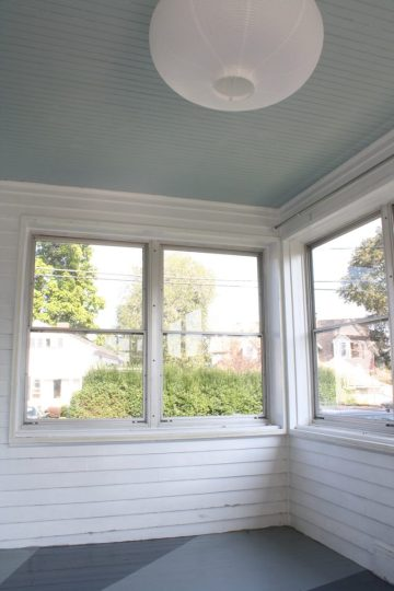 The sunroom with lots of natural light.