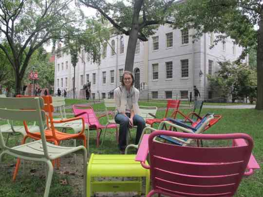 Coolest Harvard chairs.