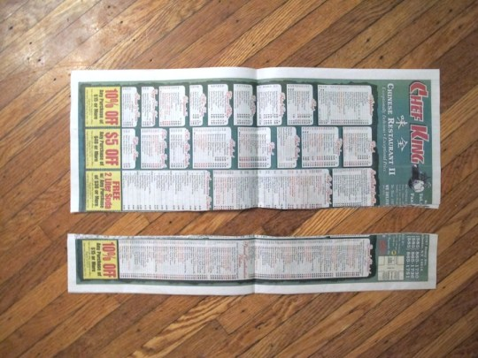 Cut a long piece of newspaper to create a custom form.