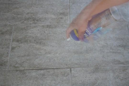 Non-toxic spray grout sealer.
