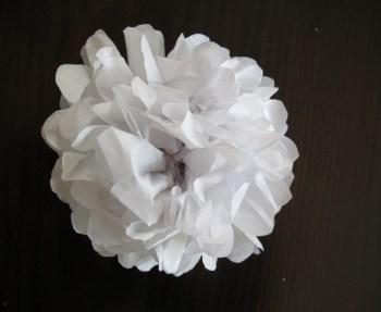 DIY paper flower.