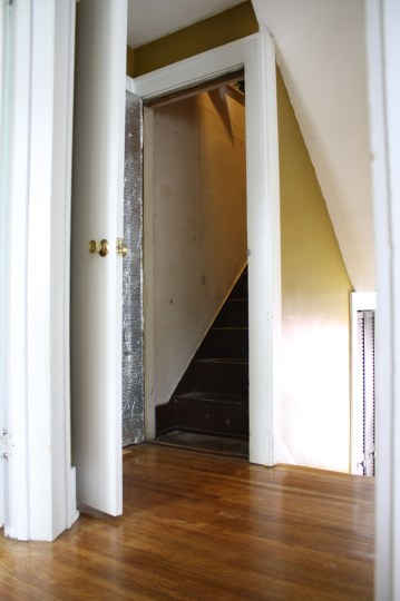 Ooh, dramatic. The lesser seen attic entryway.
