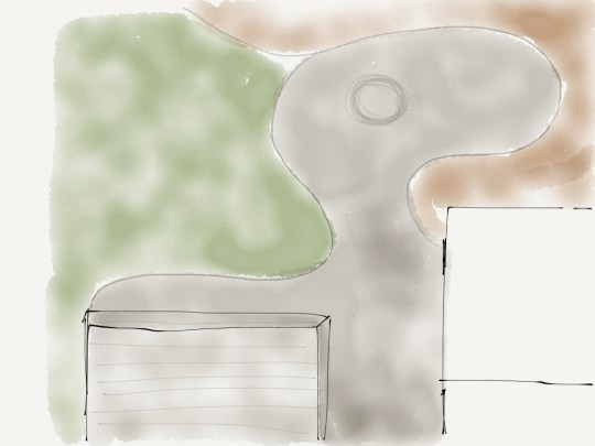 Patio designing via the Paper iPad app.