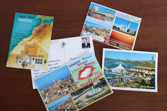 Plenty of Moroccan postcards.