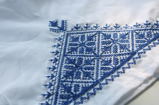 Pretty moroccan detail on an apron.