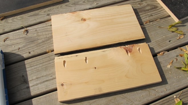 Cut boards to length and use the Kreg Jig to attach the boards together side by side.