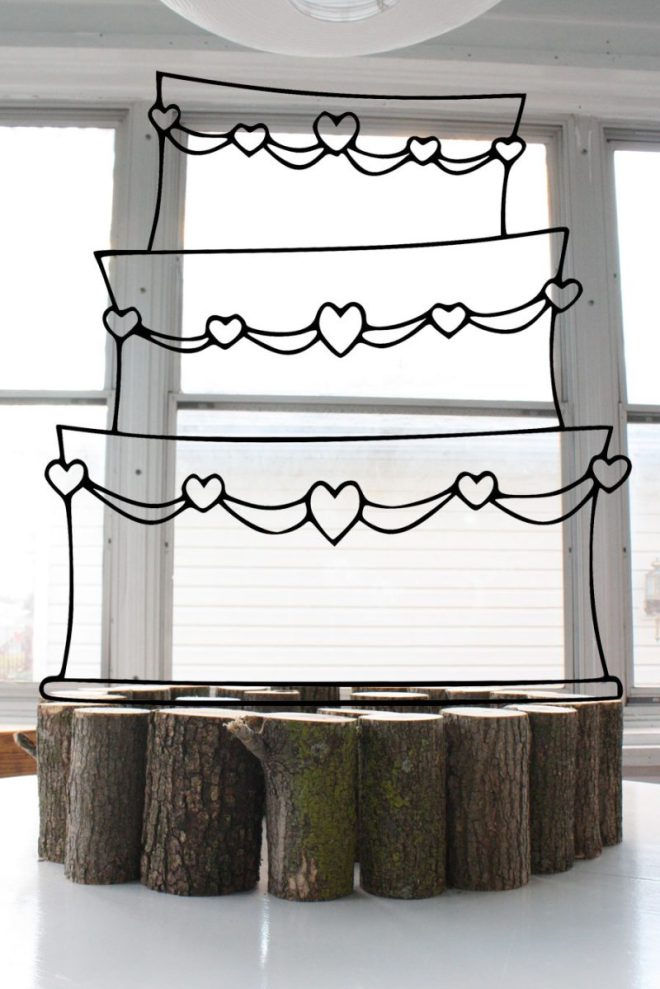 Getting ready for our wedding day with a DIY cake stand!