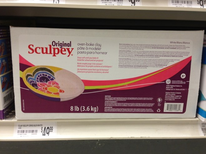 Biggest box of Sculpey at Michael's.