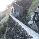 One of my favorite walkways, a beautiful basalt rock wall.