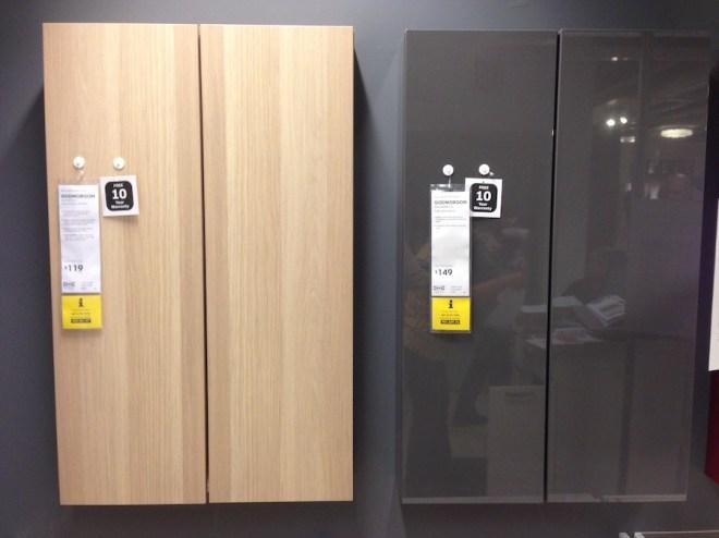 Godmorgon cabinets at IKEA.