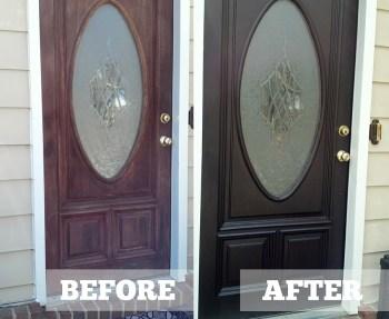 Diane's Java Gel Stain Door Makeover.