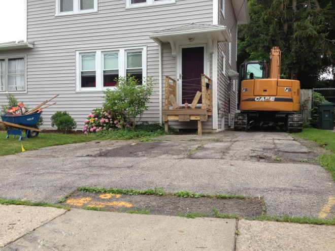 Driveway excavation! July 2013.