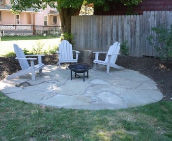 Custom round flagstone design.
