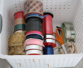Organize your ribbons in a single, accessible bin.