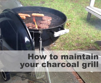 How to clean your charcoal grill.