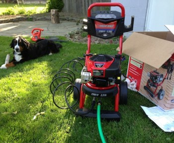Choosing a really, really good pressure washer.