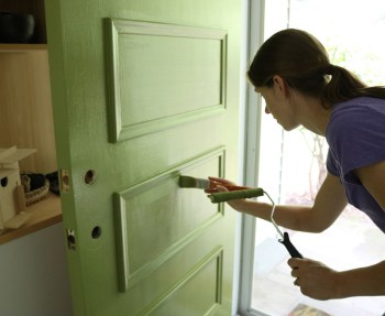 how-to-paint-door_use-low-nap-roller-for-smooth-front-door-painting-2
