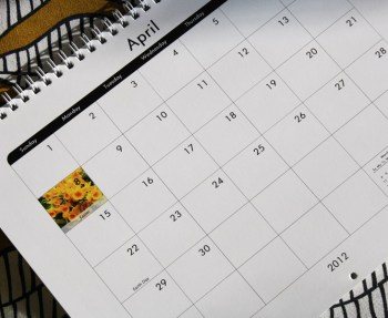 Custom photo calendar is an easy family gift.