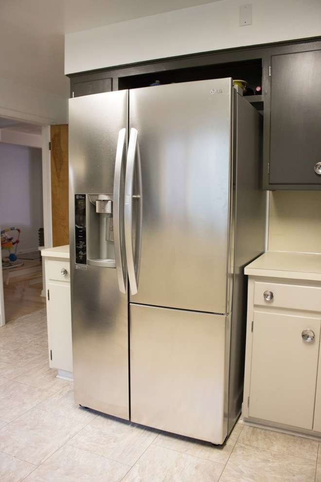 Our new LG fridge, and how we updated the cabinets to make it fit.