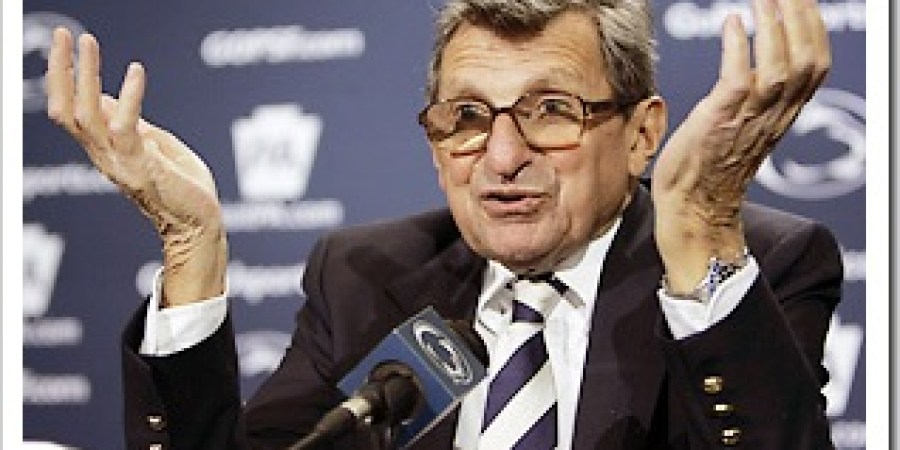 Joe Paterno Throws Up His Hands