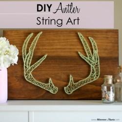 DIY ANTLER STRING ART