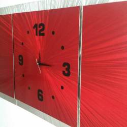 Small Of Large Wall Clock Red