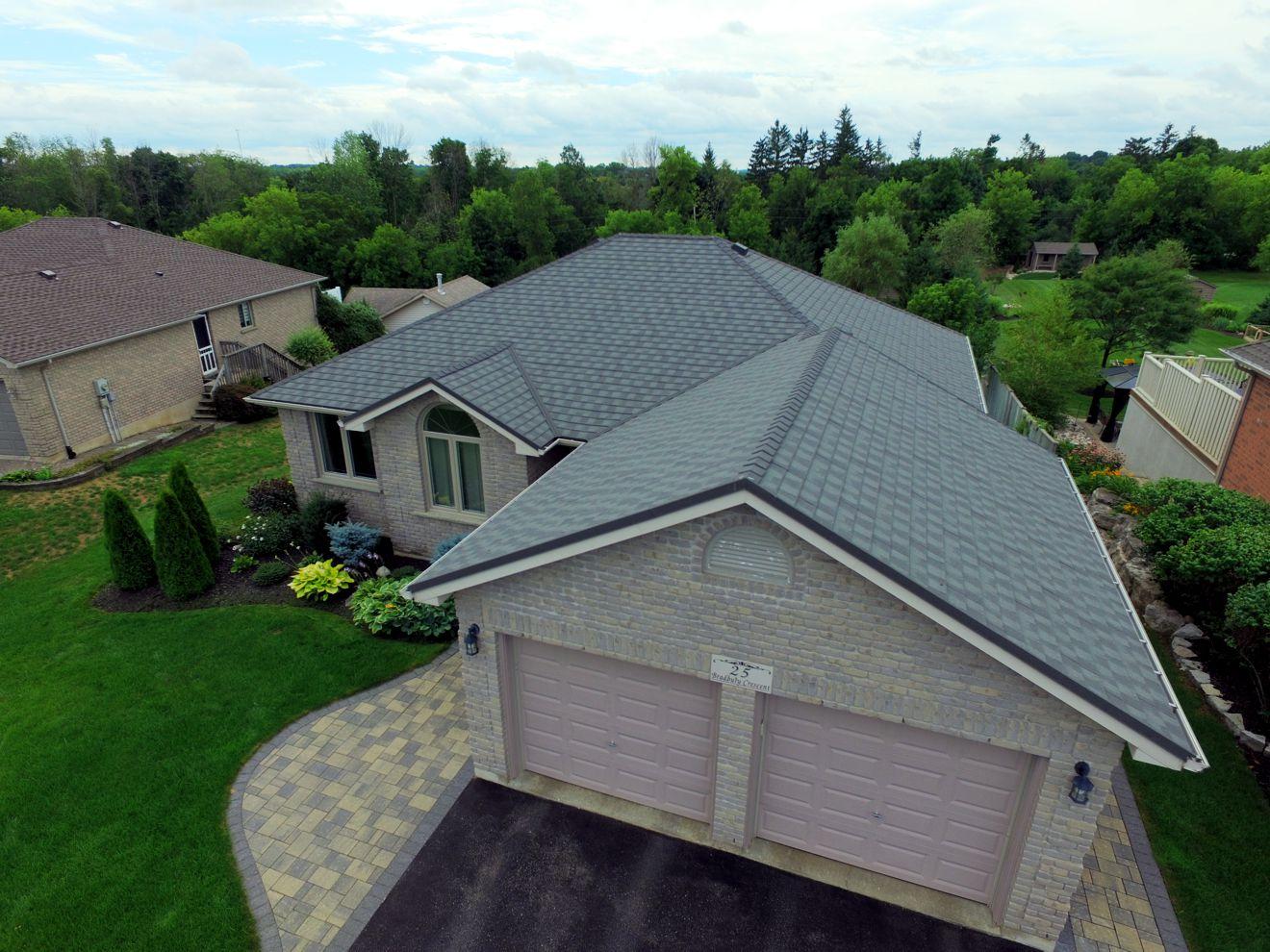 Paris Ontario_Metal Granite Ridge Shingle_Thunder Storm_Metal Roof Outlet