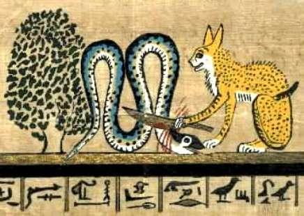 Ra as the cat Mau
