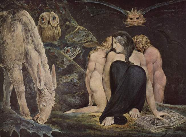 Hecate or the Three Fates by William Blake