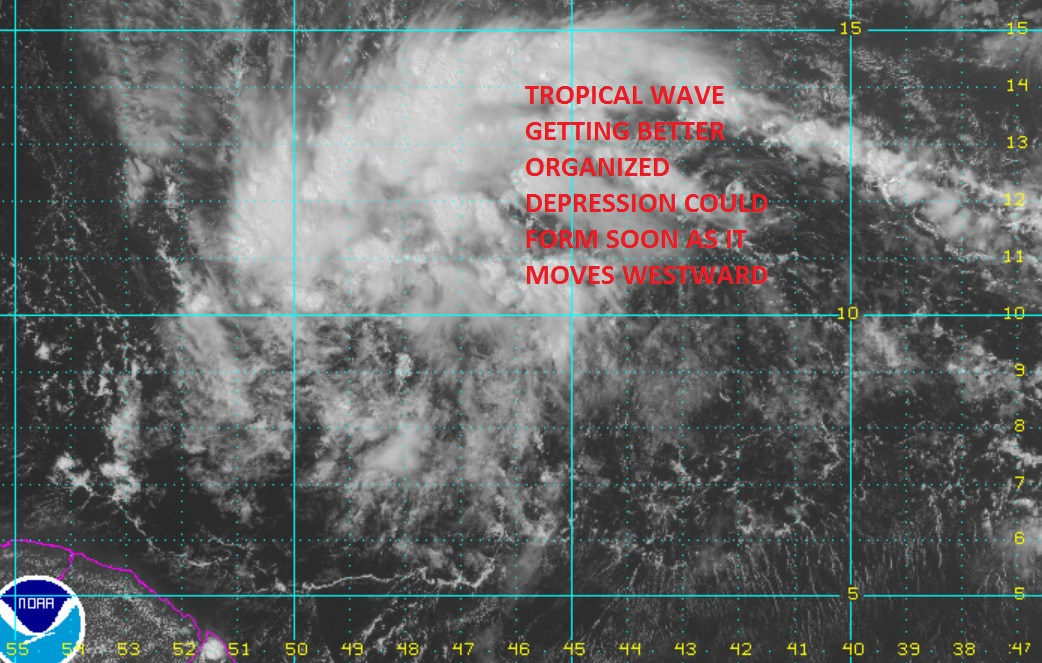 Tropical Depression Could Form Soon