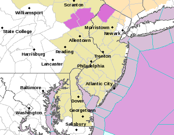 Freezing Rain Advisory Northwest New Jersey NE Pa
