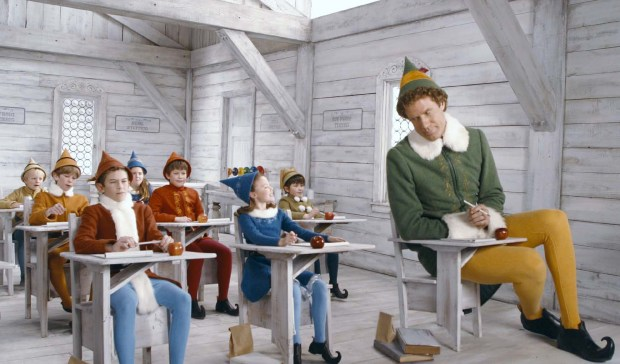 Will Ferrell in Elf. Pop Up Screens Christmas season, London film events