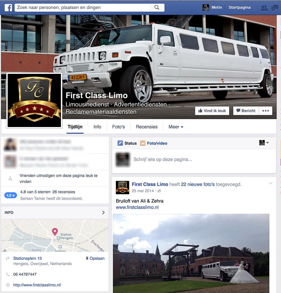 Promotie materiaal voor First Class Limo. Huur nu voor feesten en partijen een hummer limousine: kijk op https://www.facebook.com/FirstClassLimo.nl voor meer informatie.