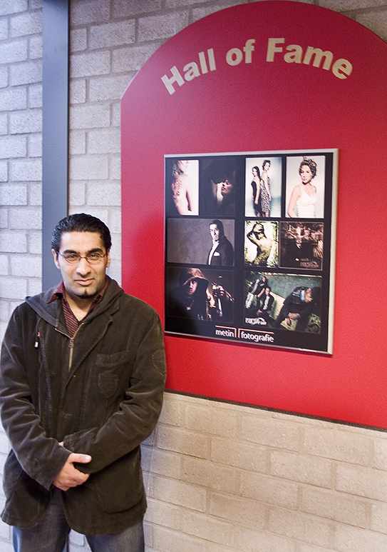 Op school kwam ik met mijn foto's in de Hall of Fame