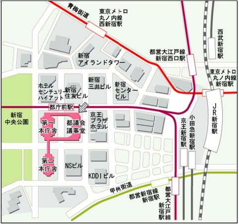 説明会の会場への地図