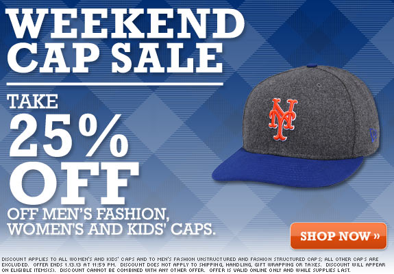weekend cap sale mlb mets