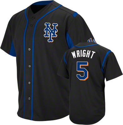 black NY logo mets jersey