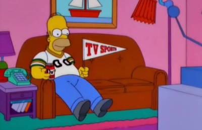 homer watches sports