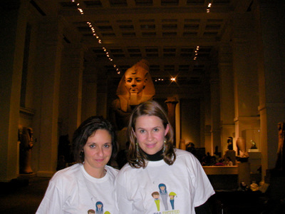 MG and Alex in the Egyptian gallery. At night!