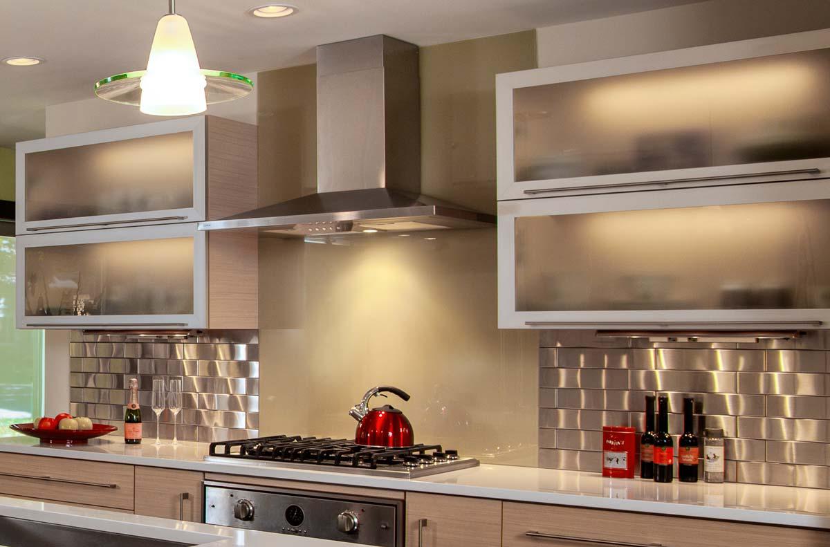70s ranch style kitchen remodel camp hill pa galley kitchen remodel Camp Hill PA Galley Kitchen Remodel glass backsplash