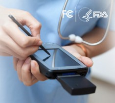 healthcare as a public utility - image of health care practitioner with handheld mobile device