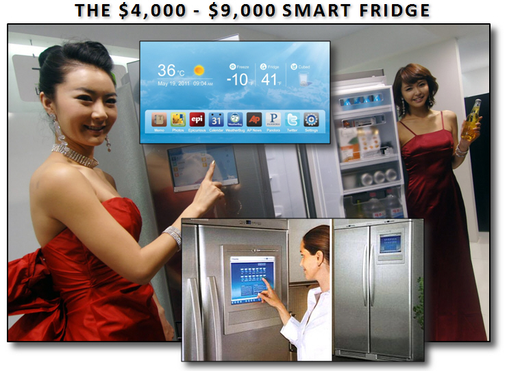 A smart refrigerator with integrated display can cost upwards of $4,000.