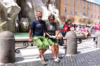 5 Italia 2013_settima tappa, Tiziano e Milena a Roma